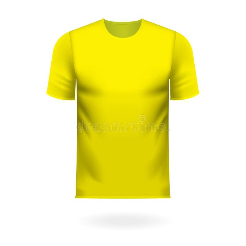 Tee-shirt rond de cou dans la couleur jaune générique illustration de vecteur