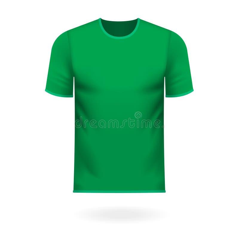 Tee-shirt rond de cou dans la couleur verte générique illustration de vecteur
