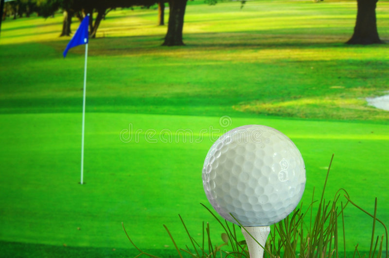 Tee time royalty free stock photo