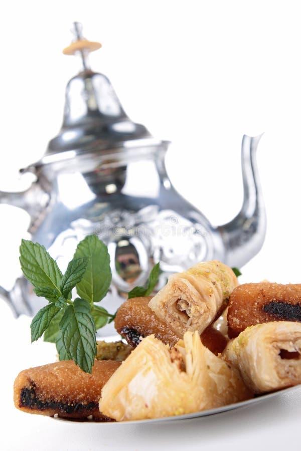 Tee und Baklava lizenzfreies stockfoto