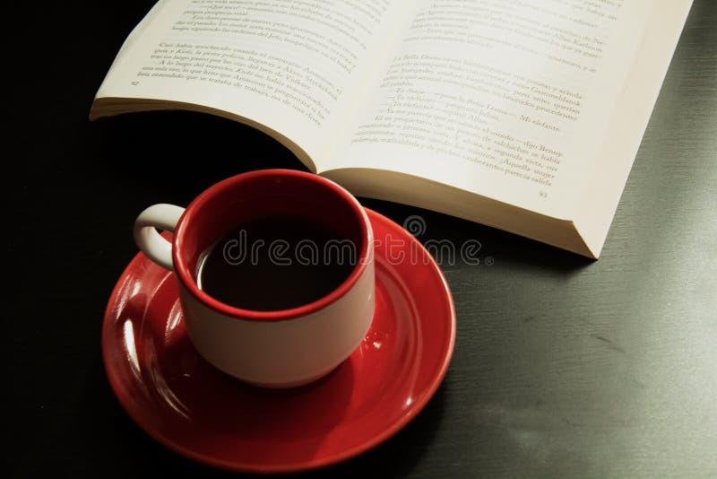 Tee und Buch stockfotos
