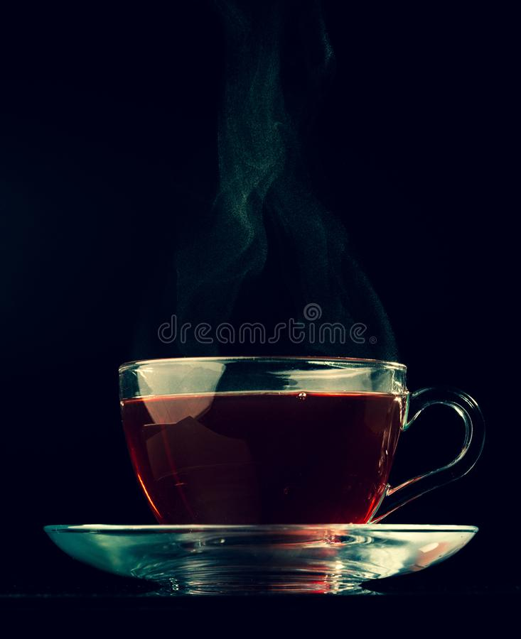 Tee und Dampf lizenzfreies stockbild