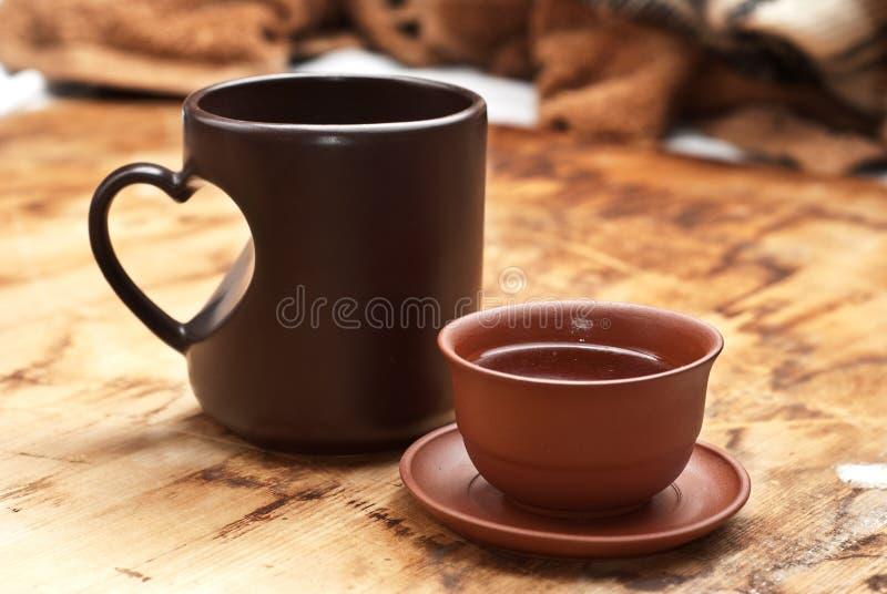 Download Tee und Kaffee stockbild. Bild von süß, imbiß, frühstück - 12202593
