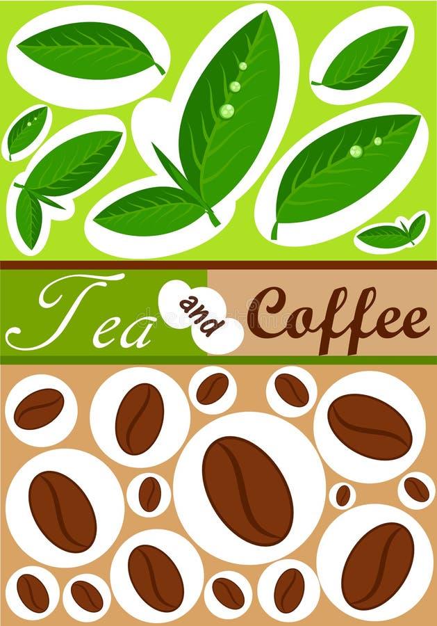 Tee- und Kaffeehintergrund vektor abbildung