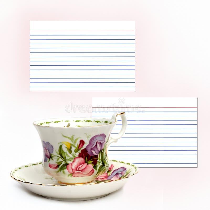 Tee-Zeit-Rezept lizenzfreies stockfoto