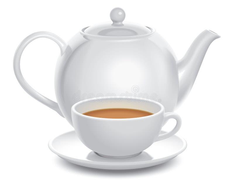Teeaufbau vektor abbildung