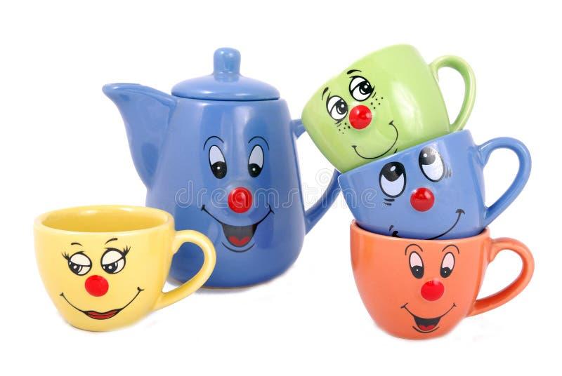 Teebecher und Kaffeetassen lizenzfreie stockfotos