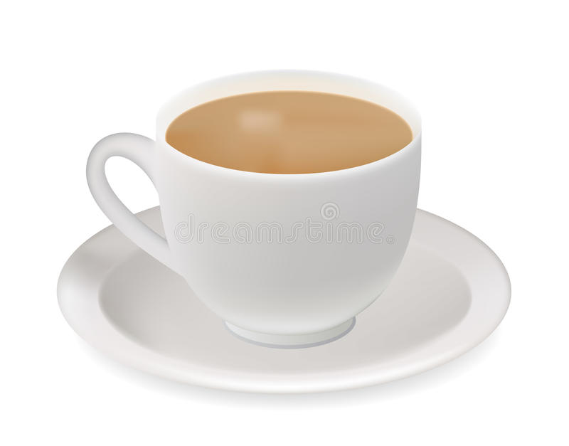 Teecup. stock abbildung