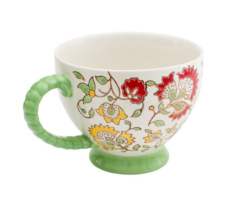 Teecup getrennt auf Weiß lizenzfreies stockfoto