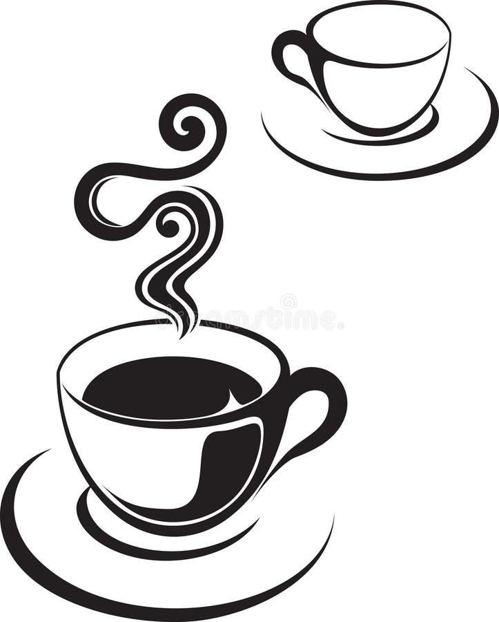 Teecupabbildung oder -kaffee lizenzfreie abbildung