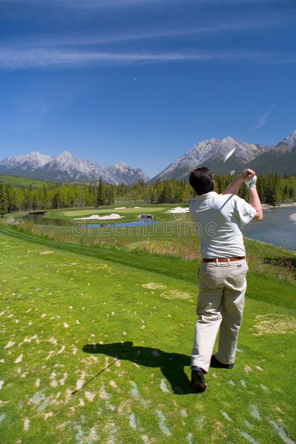 Download Teeing Off stock photo. Image of golf, kananaskis, course - 415310