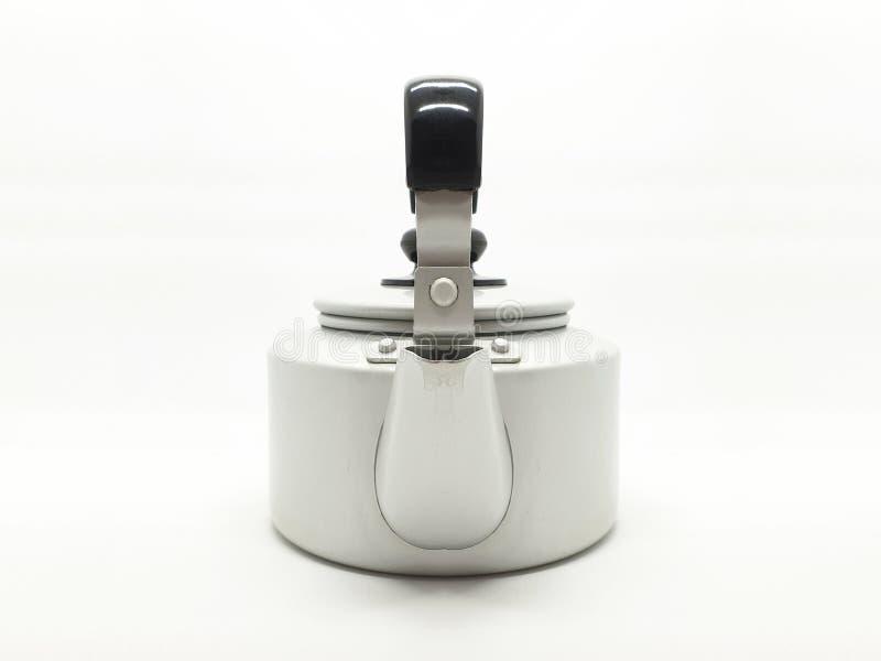 Teekessel ist eine Art Topf spezialisiert für kochendes Wasser mit einem Deckel, Tülle und Griff oder ein kleines Küchengerät 03 lizenzfreie stockbilder