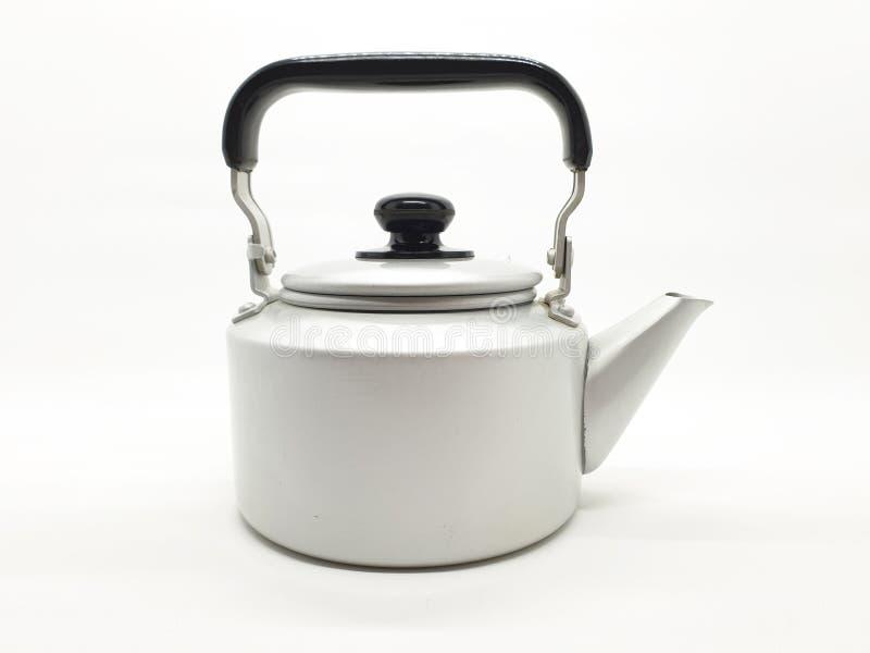 Teekessel ist eine Art Topf spezialisiert für kochendes Wasser mit einem Deckel, Tülle und Griff oder ein kleines Küchengerät 04 lizenzfreie stockfotografie
