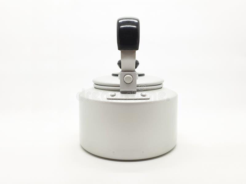Teekessel ist eine Art Topf spezialisiert für kochendes Wasser mit einem Deckel, Tülle und Griff oder ein kleines Küchengerät 05 lizenzfreie stockbilder