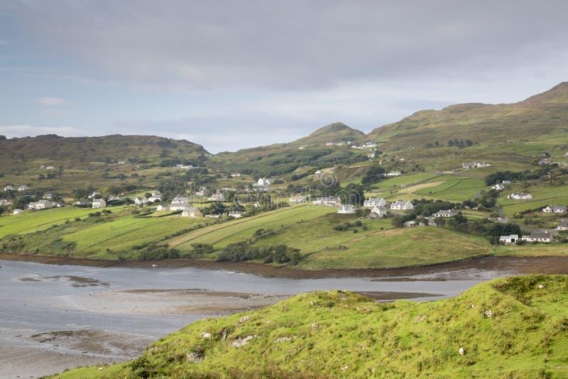 Teelin dichtbij Carrick, Donegal, Ierland royalty-vrije stock afbeeldingen
