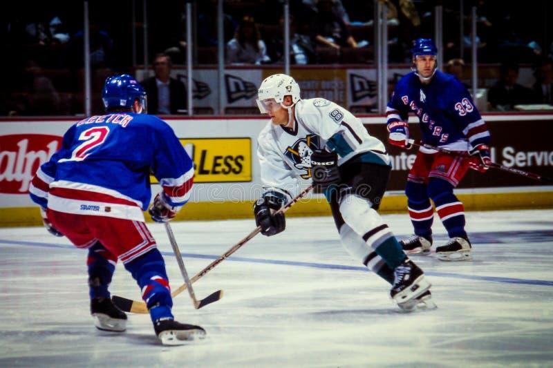 Teemu Selanne Anaheim Ducks stock foto's