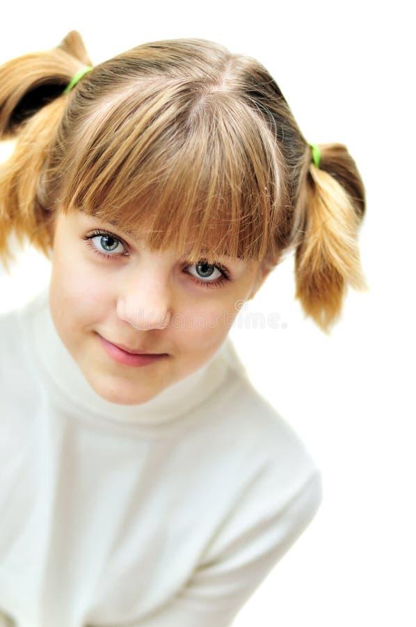 teen älskvärd stående för flicka fotografering för bildbyråer
