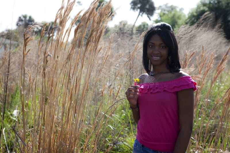 teen afrikansk amerikannatur royaltyfri bild