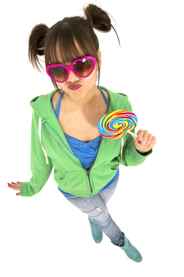 Teen with attitude stock image