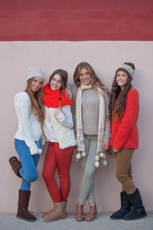 Teen autumn winter fashion royalty free stock photography