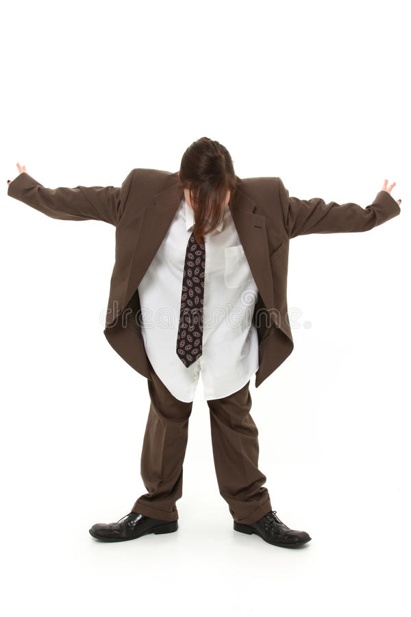 Teen in Baggy Suit royalty free stock photos