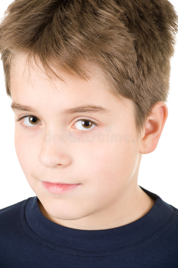 teen barn för stor pojkestående arkivfoto