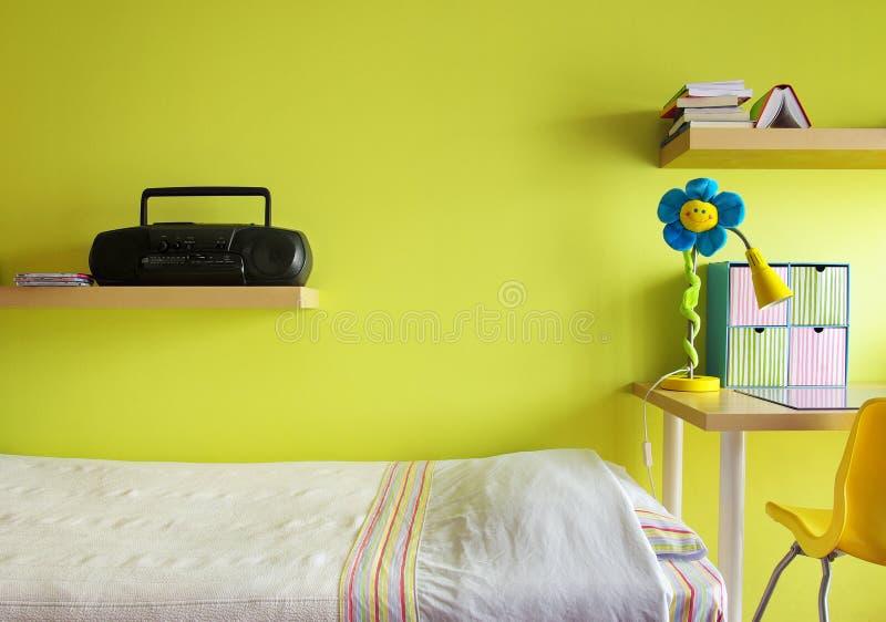 Download Teen Bedroom stock image. Image of light, blue, chair - 17955441