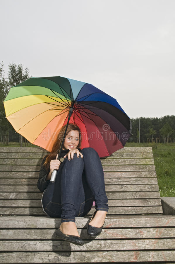 Download Teen on the bench stock image. Image of outdoors, outside - 16610617