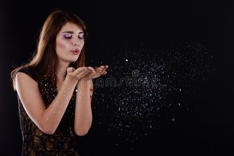 Download Teen blowing girl stock image. Image of chilly, happy - 28697079