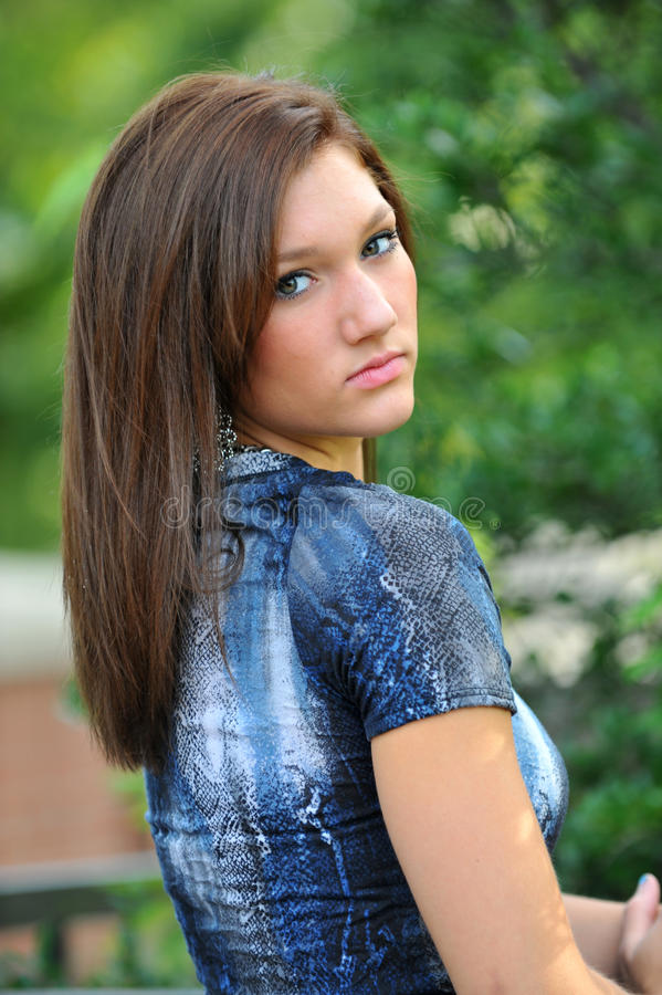 Teen in blue royalty free stock photos