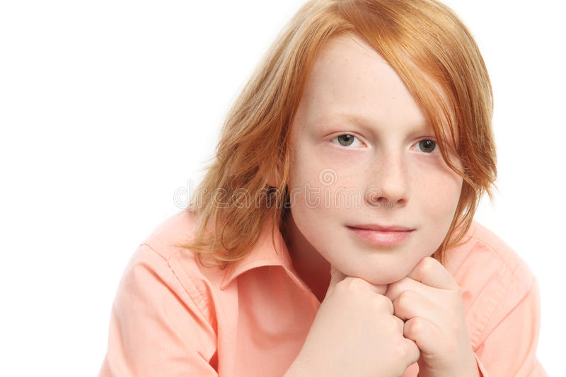 Download Teen boy stock image. Image of haired, freckles, 12, haircut - 29496161
