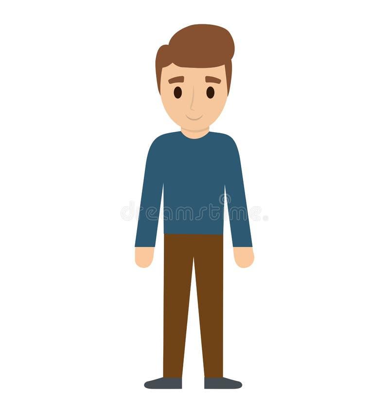Vector Character Design Illustrator : Teen boy character avatar stock vector illustration of