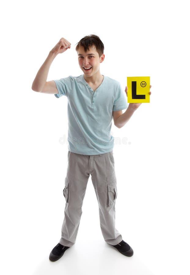 Teen boy fist of success
