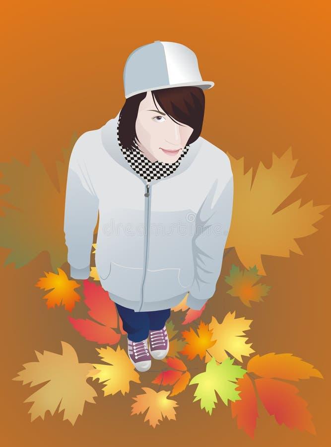 Download Teen Boy In Gumshoes Autumn Stock Vector - Image: 16565988