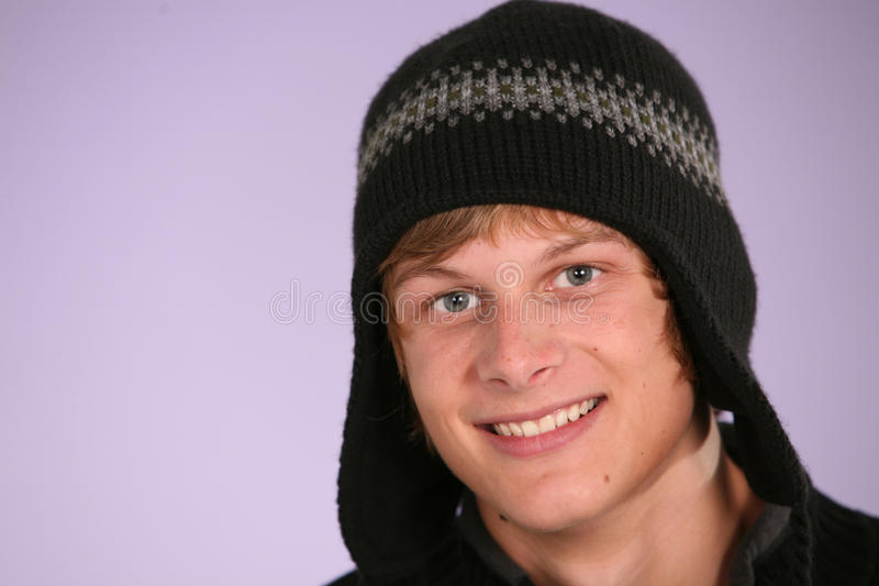Download Teen boy in hat stock photo. Image of smile, color, teen - 12002130