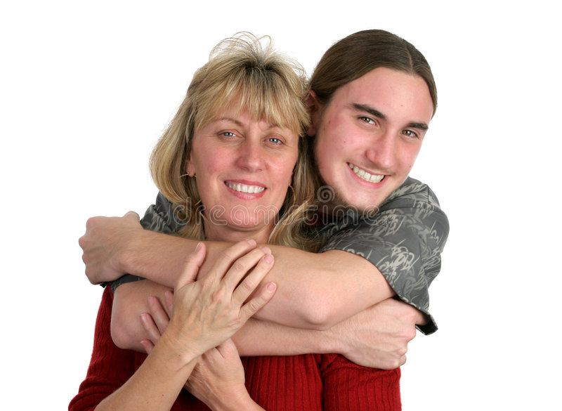Download Teen Boy & His Mom stock image. Image of beard, affectionate - 462417