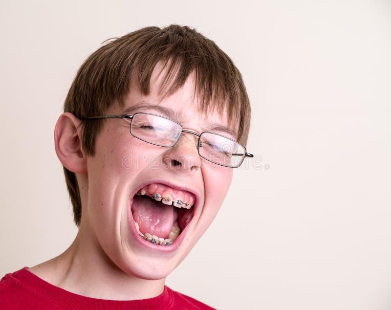 Teen Boy Screaming Yelling