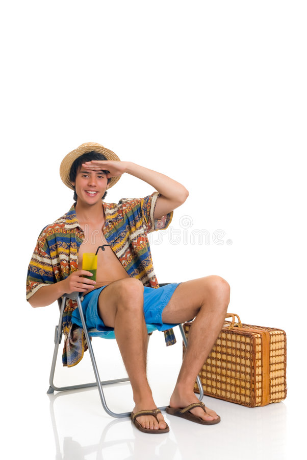 Teen boy, spring break stock image