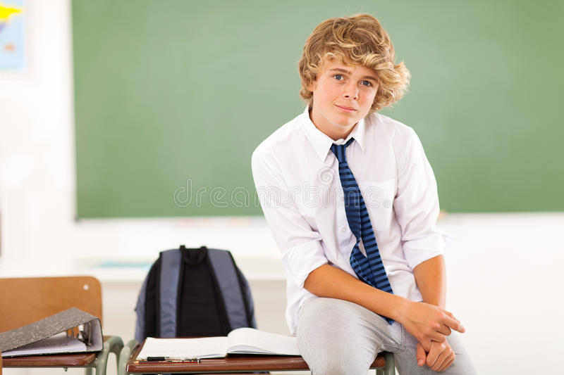 Teen boy student royalty free stock images