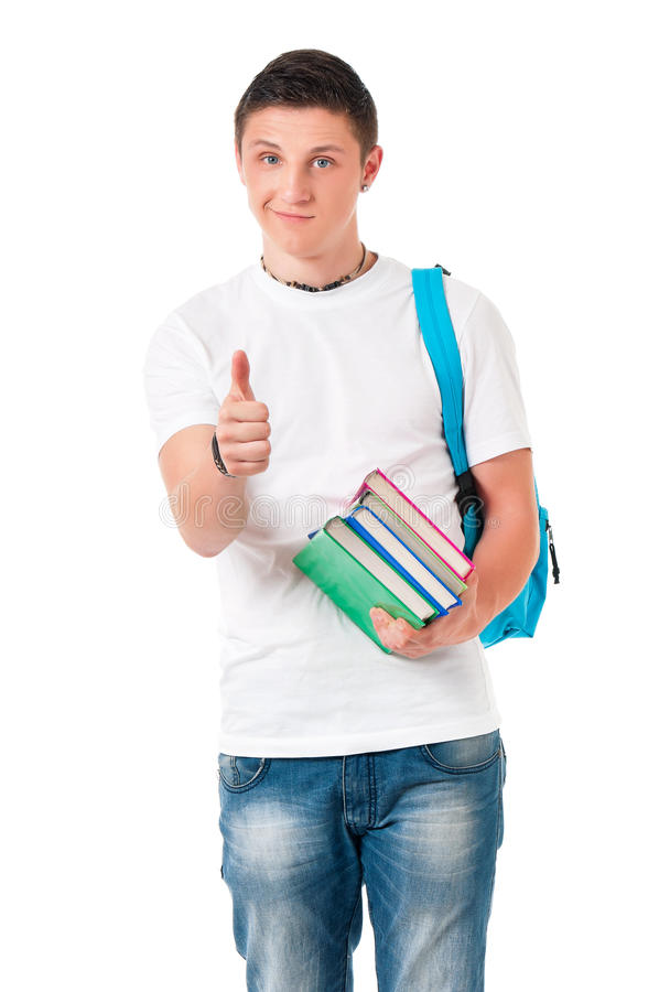 Teen boy student royalty free stock photography