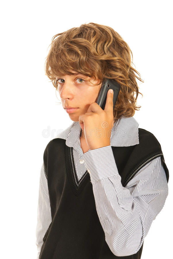 Download Teen boy talking by phone stock image. Image of cell - 31816549