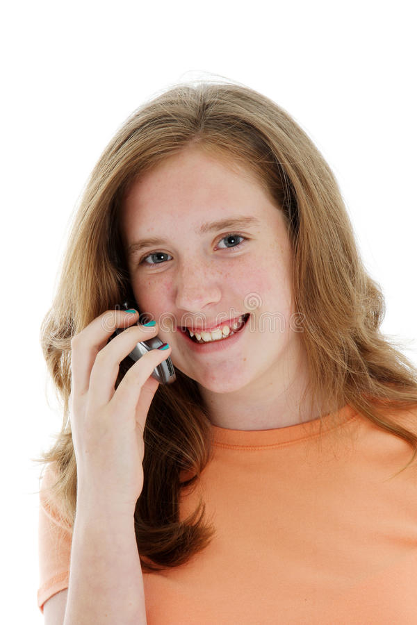 Download Teen On Cellphone stock photo. Image of white, talk, talking - 14043824