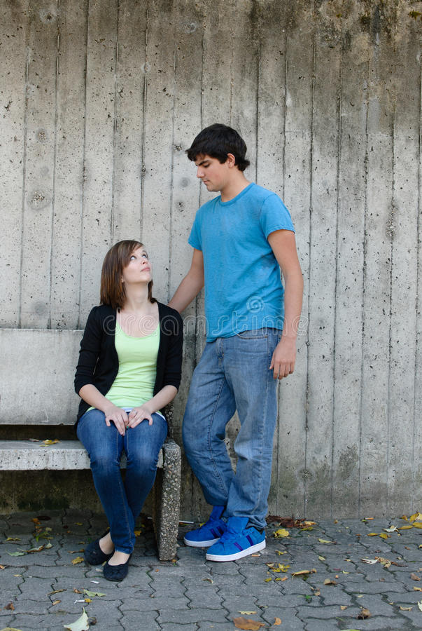 Download Teen Couple stock photo. Image of fall, girl, teen, affectionate - 16391362