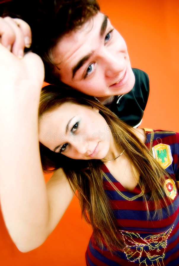 Teen Couple royalty free stock photo