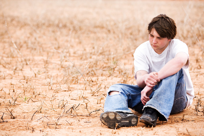 Teen depression stock images