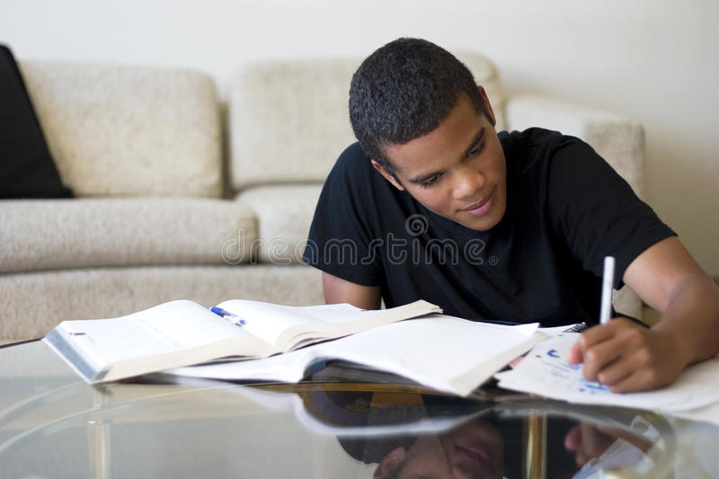 Teen Doing Homework stock image