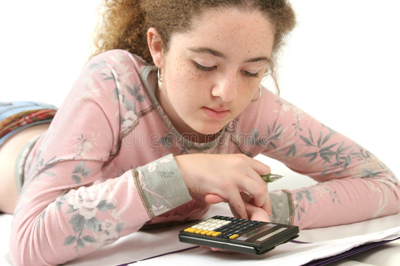 Teen Doing Homework royalty free stock photography