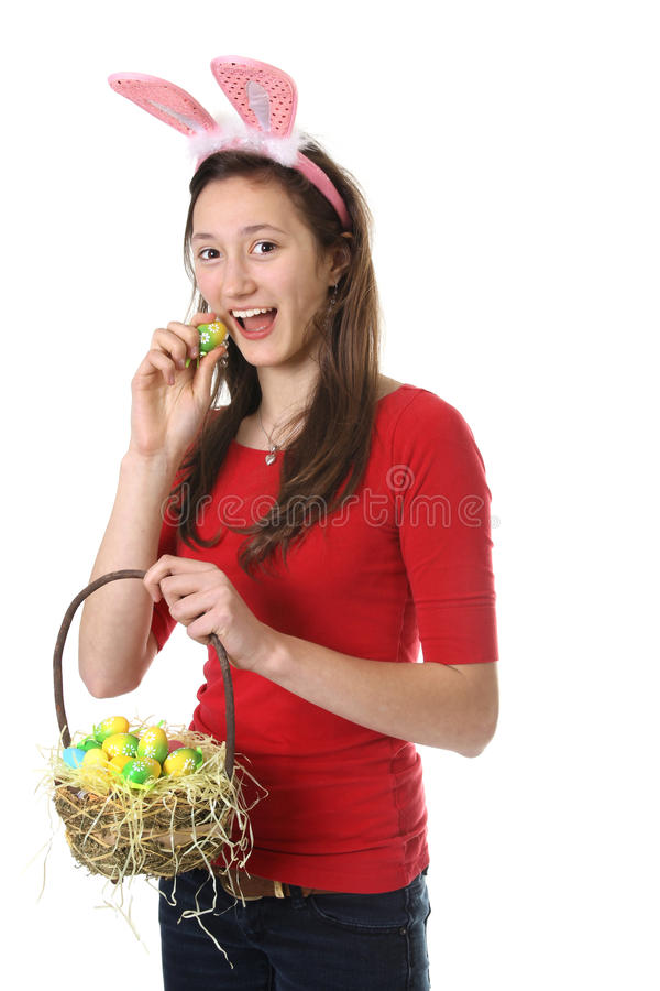 Download Teen With Easter Eggs Stock Images - Image: 23452394