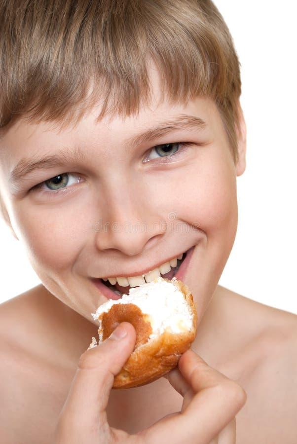 Download Teen eats cake. stock photo. Image of dessert, delicacy - 18862694