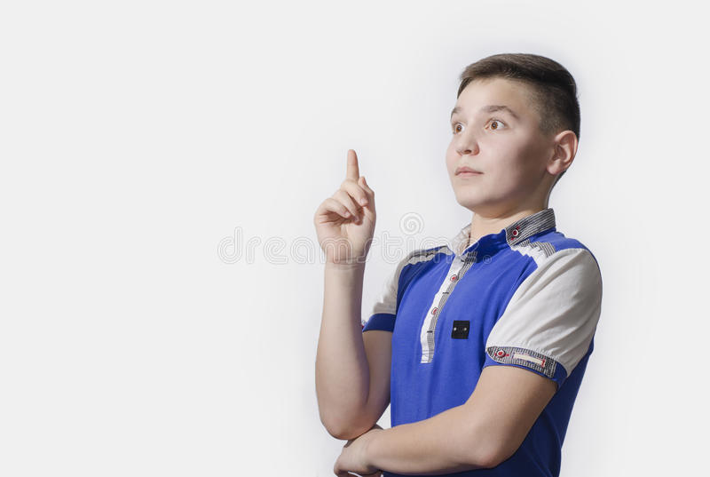 Teen enjoys emergence of the idea royalty free stock images